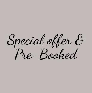 Special offer & Pre-Booked